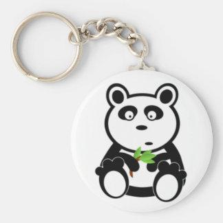 パンダのくまおよびタケ キーホルダー