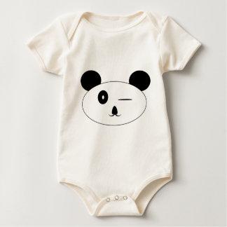 パンダのまばたき ベビーボディスーツ