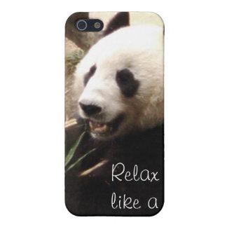 パンダのようにリラックスして下さい iPhone 5 ケース