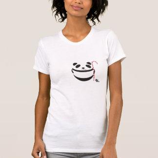 パンダのキャンディ・ケーンのTシャツ Tシャツ