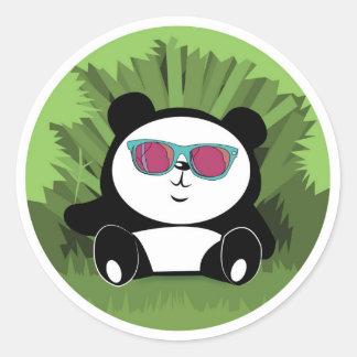 パンダのステッカー ラウンドシール