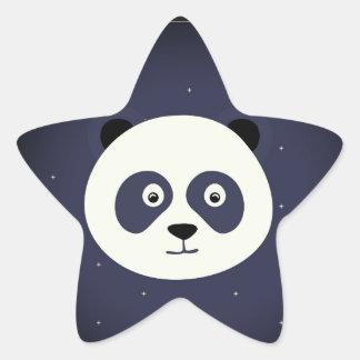 パンダのステッカー 星シール