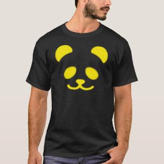 パンダのスマイリーの黄色 Tシャツ