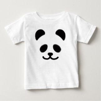 パンダのスマイリーの黒 ベビーTシャツ