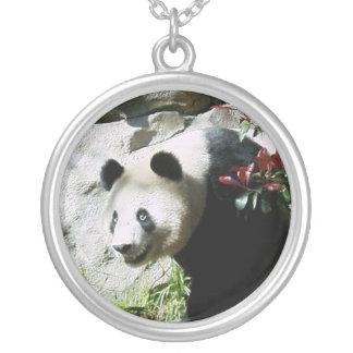 パンダのスマイルのネックレス シルバープレートネックレス