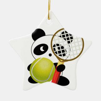 パンダのテニス セラミックオーナメント