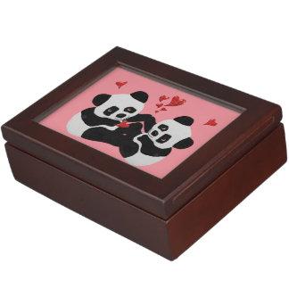 パンダのハート ジュエリーボックス