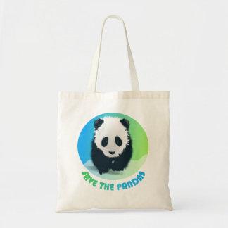 パンダのバッグを救って下さい トートバッグ