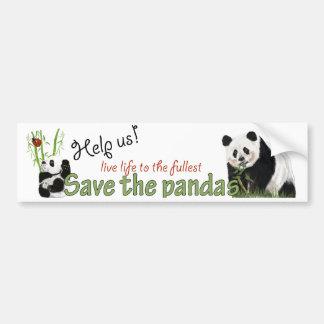 パンダのバンパーステッカー バンパーステッカー