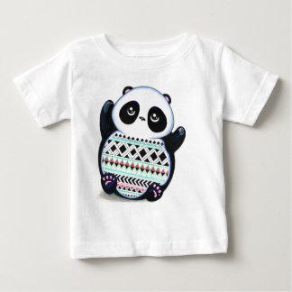パンダのプリント ベビーTシャツ