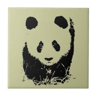 パンダのポップアート タイル