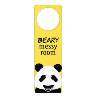 パンダのモダンなBearyきたない部屋 ドアノブプレート