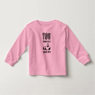 パンダの人生のTシャツ トドラーTシャツ