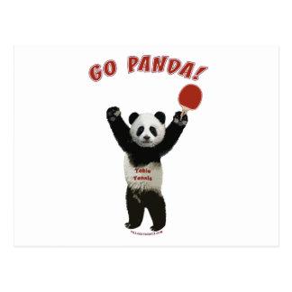 パンダの卓球は行きます ポストカード