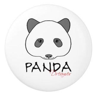 パンダの夢みる人 セラミックノブ