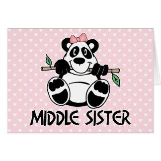パンダの女の子の中間の姉妹 カード