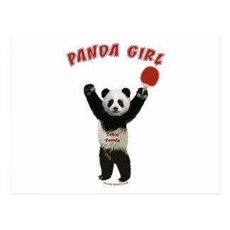パンダの女の子の卓球 ポストカード