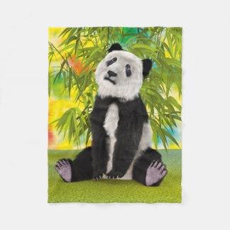 パンダの小熊 フリースブランケット