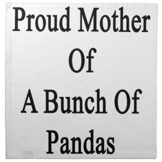 パンダの束の誇り高い母 ナプキンクロス