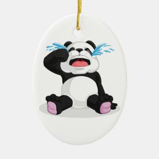 パンダの泣き叫び セラミックオーナメント
