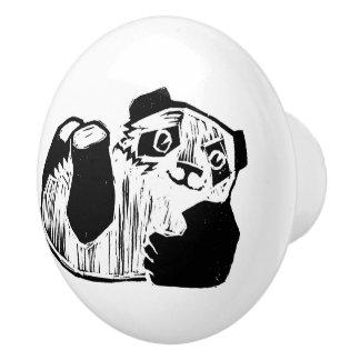 パンダの演劇の陶磁器のノブ セラミックノブ