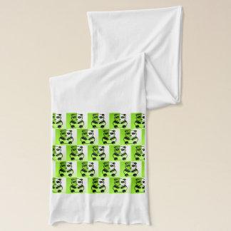 パンダの緑パターン スカーフ