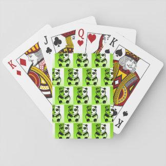 パンダの緑パターン トランプ