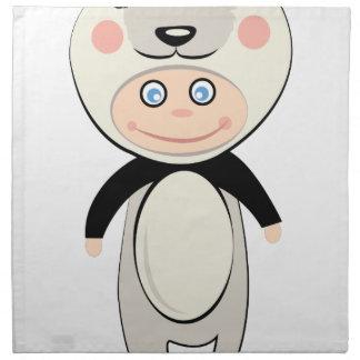 パンダの衣裳 ナプキンクロス