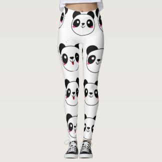 パンダの表現のemojiのカスタムのレギング レギンス