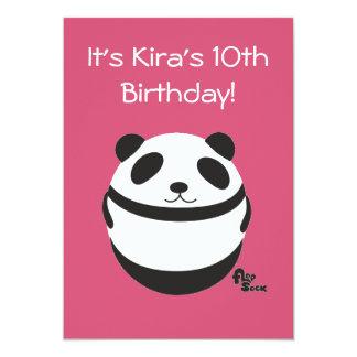 パンダの誕生日の招待状 12.7 X 17.8 インビテーションカード