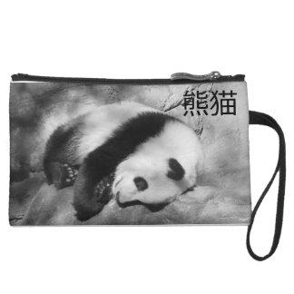 パンダの財布/クラッチ スエードクラッチ