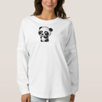 パンダの長袖のワイシャツ スピリットジャージー