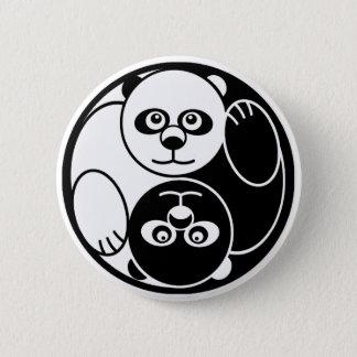 パンダの陰陽 5.7CM 丸型バッジ