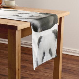 パンダの顔 ショートテーブルランナー