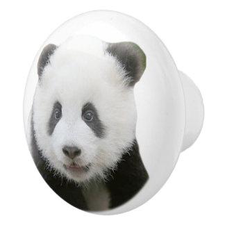 パンダの顔 セラミックノブ
