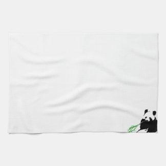 パンダの食べ物のタケ キッチンタオル