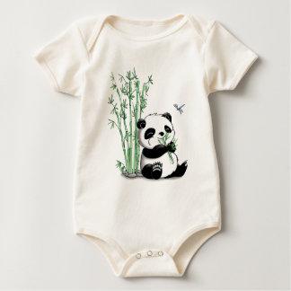 パンダの食べ物のタケ ベビーボディスーツ