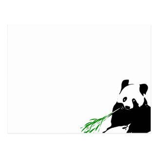 パンダの食べ物のタケ ポストカード