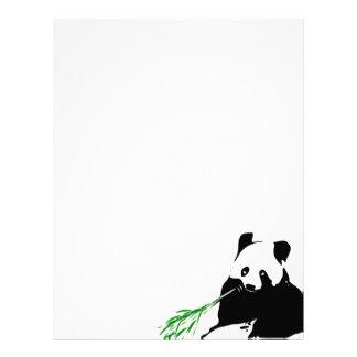 パンダの食べ物のタケ レターヘッド