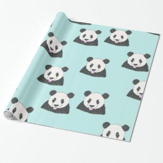 パンダの「selfie」の包装紙 ラッピングペーパー