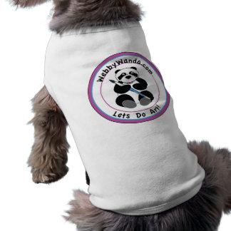 パンダのwebbywanda.comのロゴの飼い犬のコート ペット服
