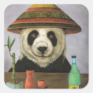 パンダを持つ大酒飲み4 スクエアシール