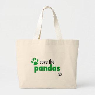 パンダを救って下さい ラージトートバッグ