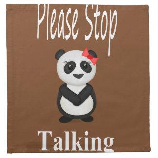 パンダを話すことを止めて下さい ナプキンクロス