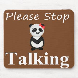 パンダを話すことを止めて下さい マウスパッド