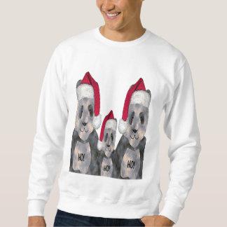 パンダ家族のクリスマス スウェットシャツ