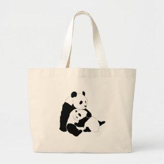 パンダ家族 ラージトートバッグ