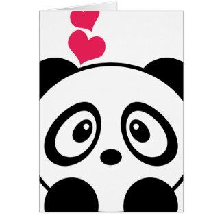 パンダ愛挨拶状 カード