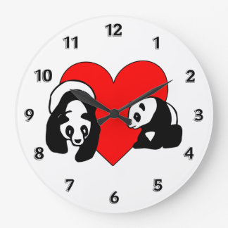 パンダ愛 ラージ壁時計