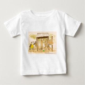 パンダ、カエル、カンガルーは、1つのアイコンに番号を付けます ベビーTシャツ